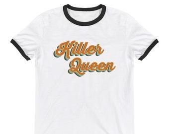 bccde5e6198 Killer Queen Ringer Tee - Freddie Mercury