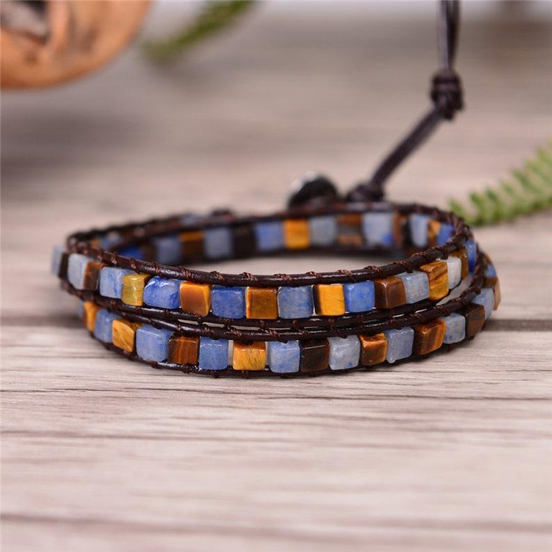 boho bead bracelet for women wrap around gypsy bracelet boho bracelet beaded bracelet 2 layer gift for women natural stone bracelet