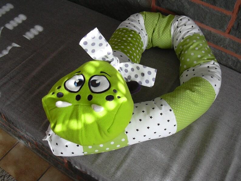 Bed Snake Bettrolle sleep roll puckschlange Puckschnecke still pillow pillow cradle cot
