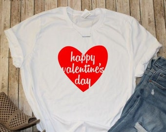 Valentine s Day Shirt - Red Heart Shirt -Graphic Tee - Plus Size Available  - Women s Shirts b7cf8096a