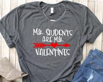 Teacher Valentine s Day Shirt - My Students are My Valentines - Preschool  Kindergarten Valentine Tee - Plus Size Available - Women s Shirts e362c7e7d
