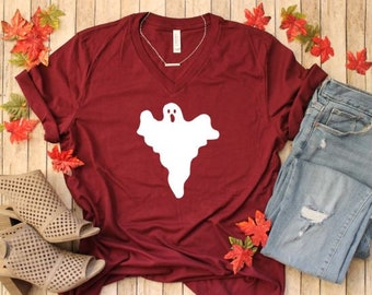 f9c1afbf725 Halloween Shirt - Ghost T-shirt - Women s Halloween Shirts - Fall Shirts -  Halloween T-shirt - Fall Graphic Tees - Plus Size Available
