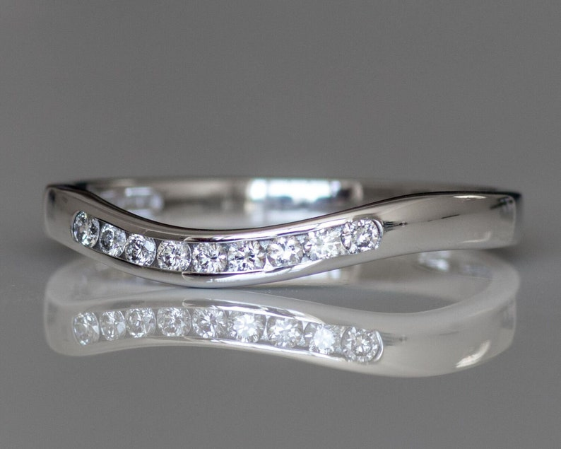 size K 9ct White Gold 0.15ct Diamond Eternity Ring