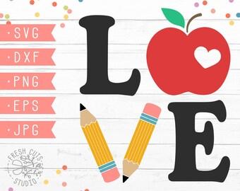 Teacher Love Svg Etsy