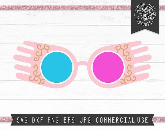 Luna Glasses Svg Cut File Potter Svg Wizardry Svg Clip Art Etsy