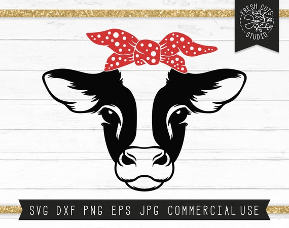 Bandana Milk Cow SVG, JPG, Digital Download