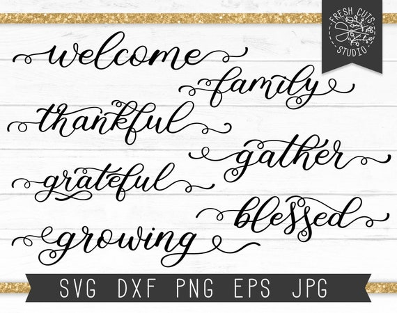 Farmhouse Words Svg Cut Files For Cricut Silhouette Family Etsy