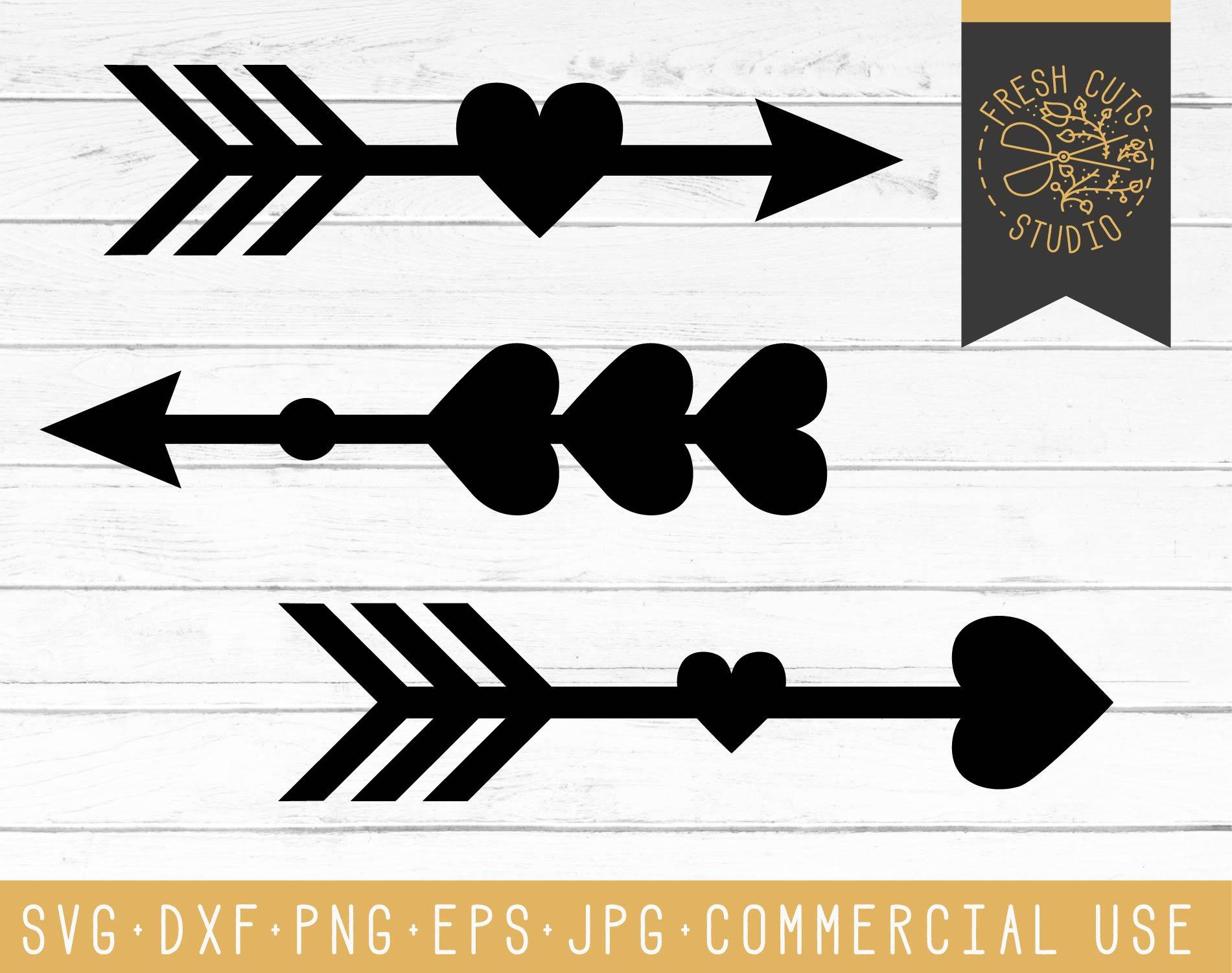heart arrow svg cut files cute arrow vector cameo cricut. Black Bedroom Furniture Sets. Home Design Ideas
