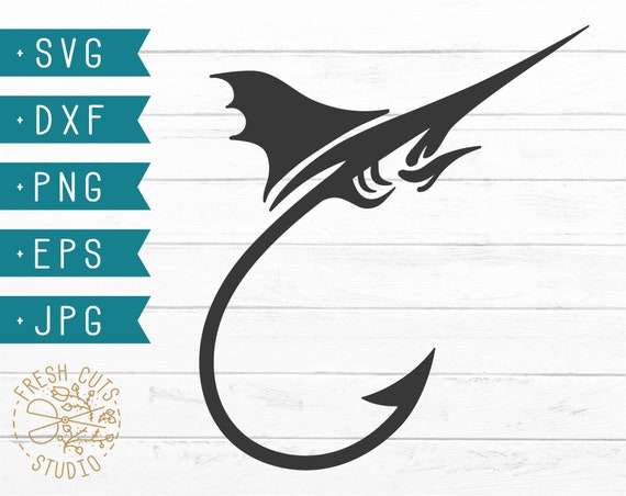 Download Fishing Hook Svg Cut File For Cricut Silhouette Fishing Svg Etsy