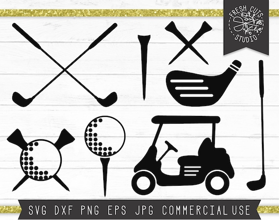 Golf Svg Cut Files For Cricut Instant Download Clipart Golf Etsy
