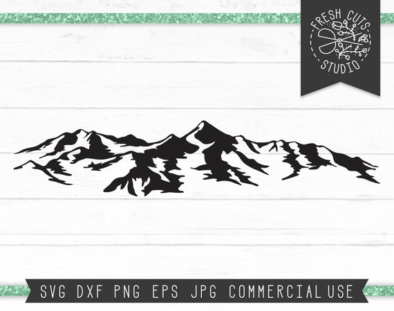 Rocky Mountains Svg Cut File For Cricut Mountain Silhouette Etsy