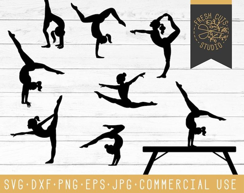 Gymnast SVG Cutting Files Gymnastics Silhouette Cricut  7541a5e5299ce