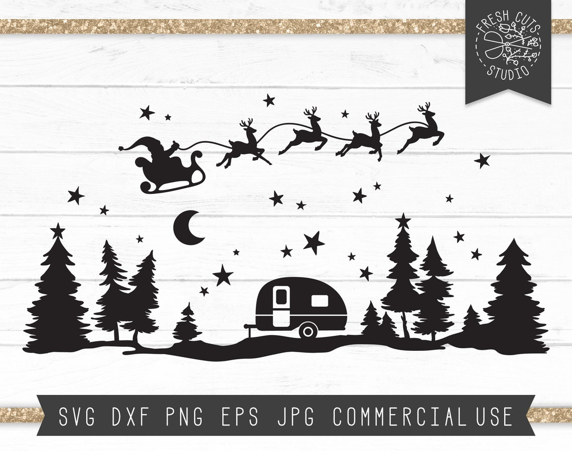 Christmas Svg Starry Forest Cut File