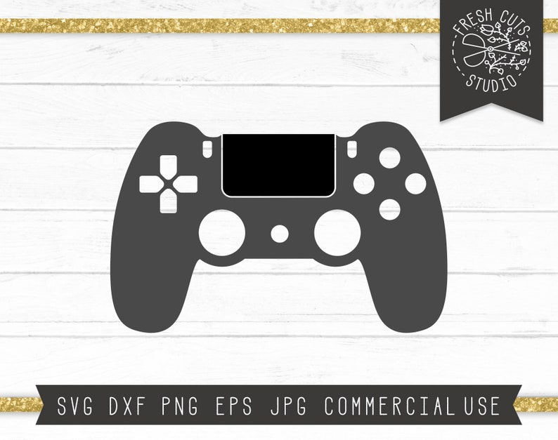 Video Game Controller Svg Cut File For Cricut And Silhouette Instant Download Digital Design Gaming Control Svg For Cutting Machines Dxf