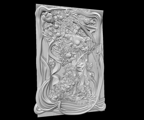 Modelo STL 3D para impresora de Talla de Cnc Router alivio tipo Aspire Cut3D