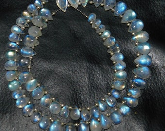 30/% Discount Natural Rainbow Moonstone Faceted rondelle Beads 3.5-9.5 MM Size aaa Grade Quality 18 INCHES STRAND