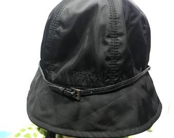 24cbee82807fc 20% Off!! New Year Sale!! Vintage Prada Black Bucket Hats