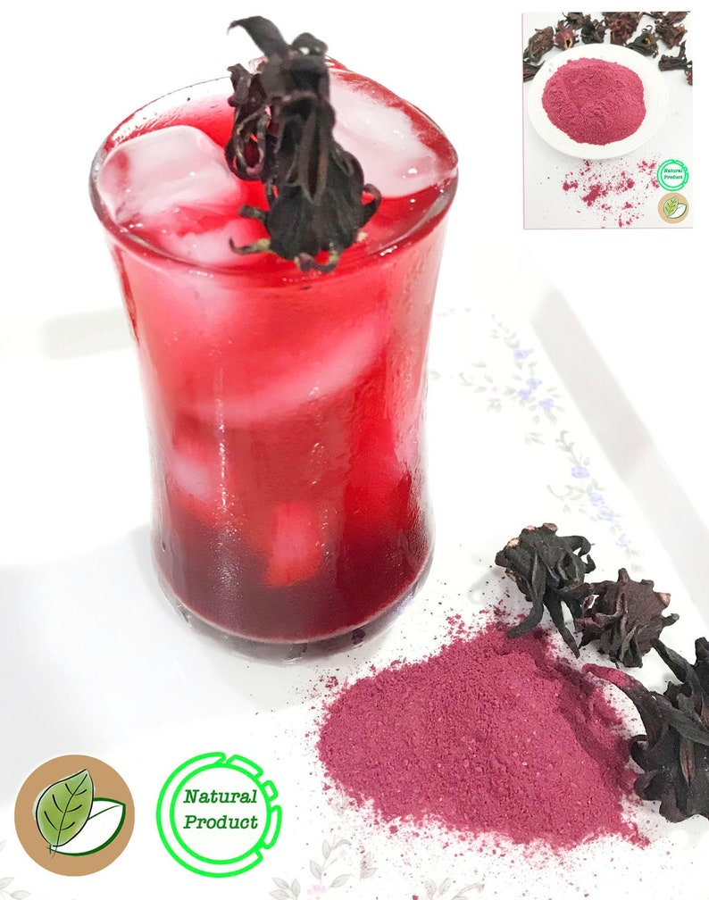 2.2lb Pure Hibiscus Roselle Grounded Powder l Natural color | Etsy
