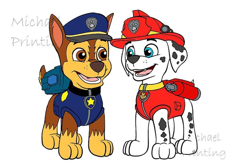Paw Patrol Clipart,Paw Patrol Cut Files Paw Patrol Printable |Png Eps Dxf| Pdf Chase paw patrol Skye paw patrol PNG