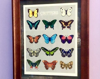 Butterfly Display Critters Print Art Inspired by Animal Crossing Moth Collectible