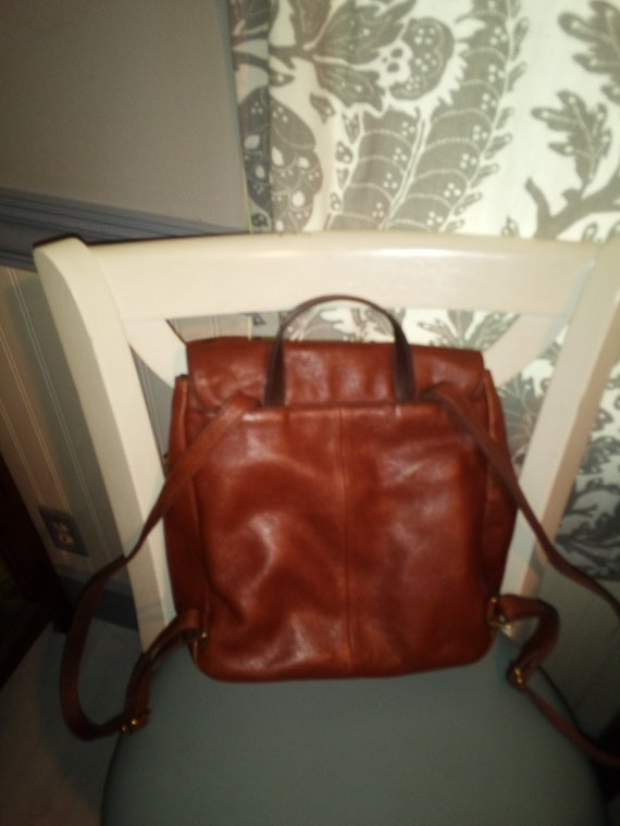 Fossil brown leather Claire backpack - image 2