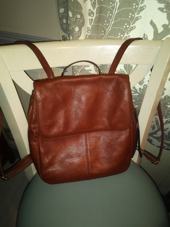 Fossil brown leather Claire backpack - image 1
