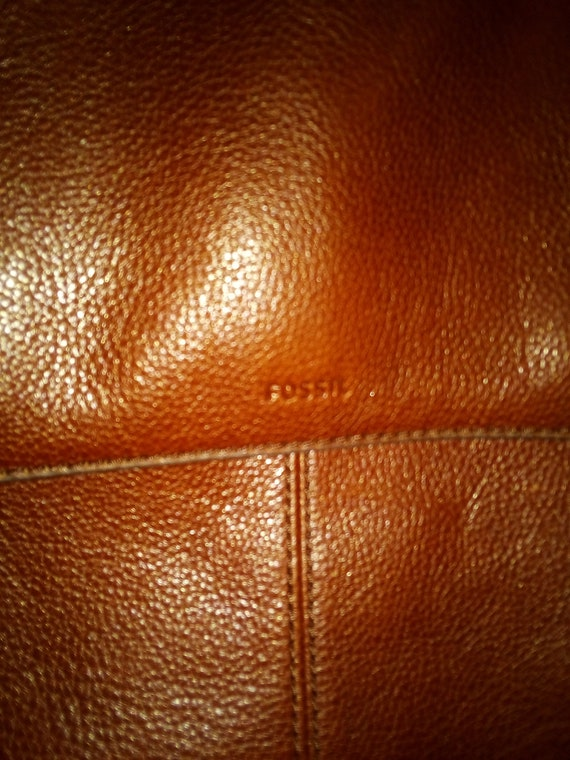 Fossil brown leather Claire backpack - image 5
