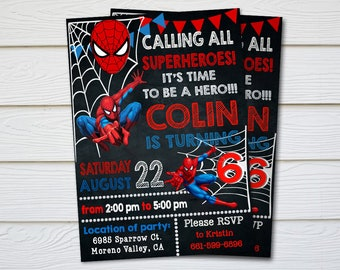 Spiderman invitation etsy spiderman invitation spiderman birthday invitation spiderman spiderman printable spiderman card spiderman invite party digital stopboris Gallery