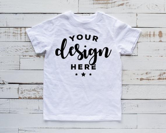Kids Shirt Mockup White Kids T Shirt Mock White Shirt Template Etsy