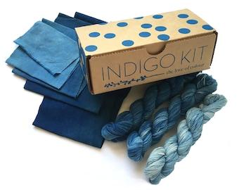 Indigo Kit - Natural Dye - Blue - Pre-measured ingredients for an Organic Indigo Fructose Vat - great for Beginners!