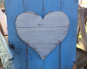 4  Salvage Wood Hearts Wall Art