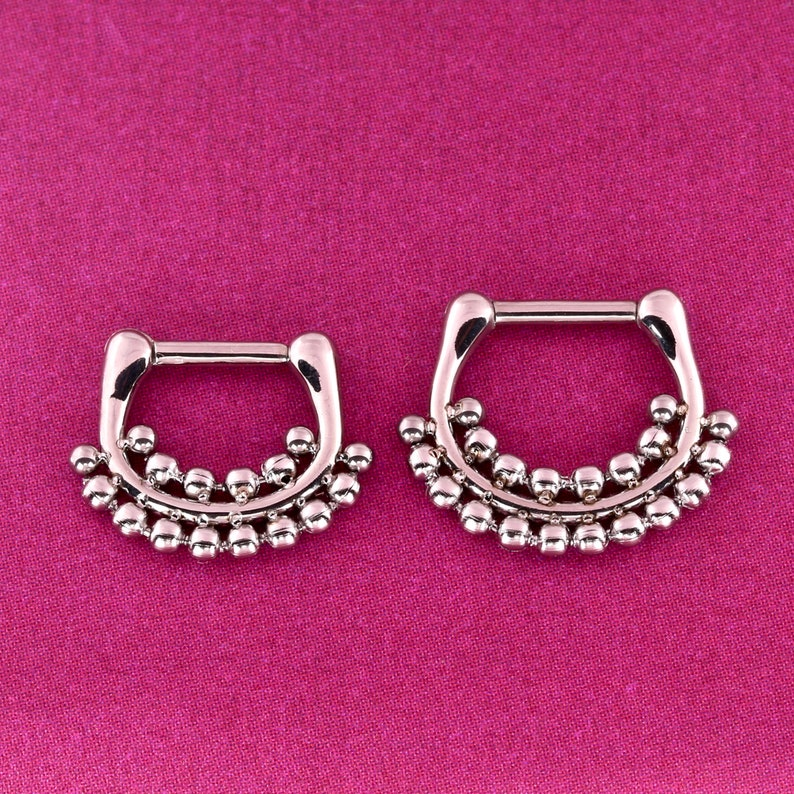 Septum Clicker Ring Daith Piercing Jewelry 316l Surgical Etsy
