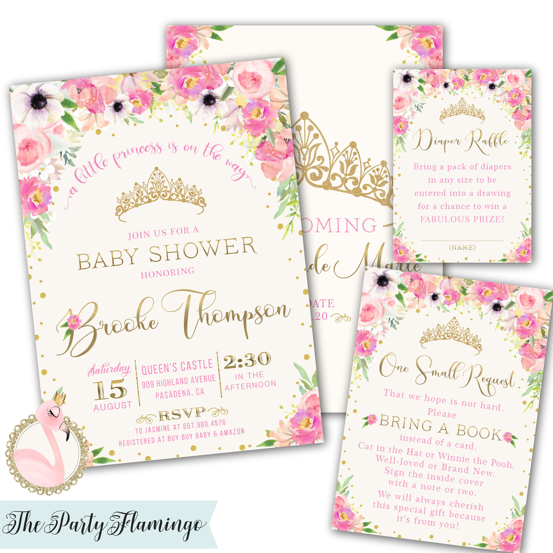 33770073a3e7 Princess Baby Shower Invitation Princess invitations a
