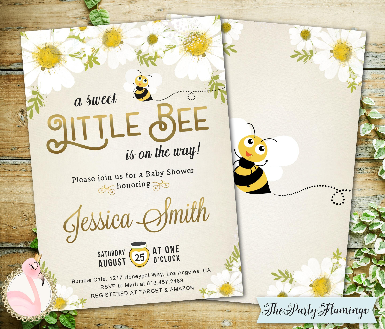 Bee Baby Shower Invitation Bumblebee Baby Shower Invitation Etsy