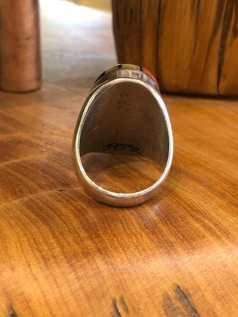 Mens Zuni Multi stone inlay Ring