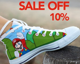 e7ebfd06e85af6 Super Mario Bros Custom Shoes