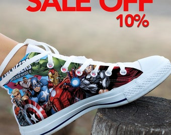ffc2a4ee5dc5 Marvel Avengers Custom Shoes