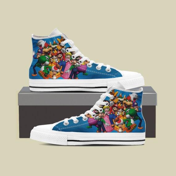 Super Custom Mario Converse Converse Birthday Luigi Custom Super Mario Super Shoes Mario Custom Party Shoes Bros Mario Mario Sneaker ABFrnYA