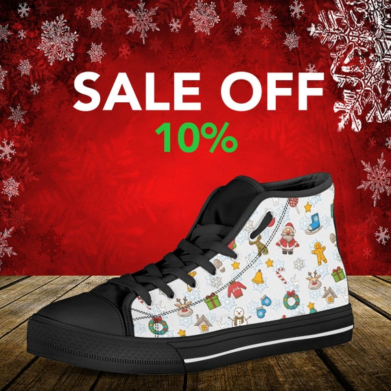 Custom Shoes High Pattern Shoes Shoes Christmas Converse Top Noel Custom Gift Christmas Christmas Christmas Custom Converse Merry Custom S5dnn7qx