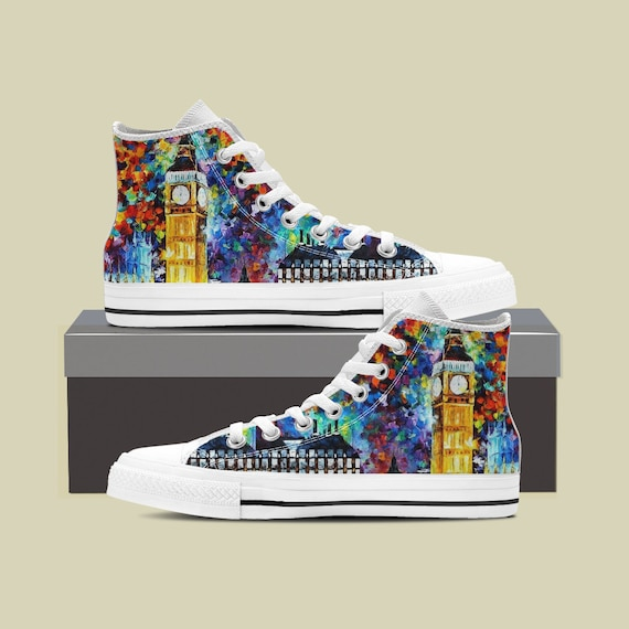 Art Shoes Converse London Night Top Big Ben Ben Big Custom High Watercolor Starry Custom Custom Ben Big London Custom Sneaker dEw0CwqB