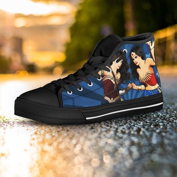 ConverseWonder Top Shoes High Sneaker Wonder Woman Woman Converse Custom Woman Wonder Wonder Shoes Woman Top Wonder Custom High Woman 0ZPw6TYqT