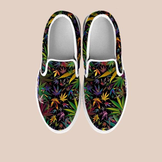 Slip Shoes custom cannabis Shoes Weed 420 on weed Slip Shoes shoes art weed Design Cannabis 420 Marijuana shoes vans on Weed custom OZwnPzAOq