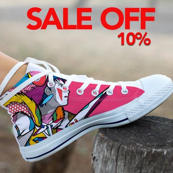 Ghibli Shoes Top High Anime Custom Princess Shoes Custom Studio Mononoke Converse Mononoke Mononoke Princess Custom Sneaker Converse q8xpf