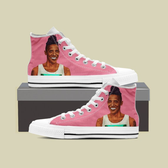 Custom Custom Feminist High President Obama Sneaker Top Shoes Obama Custom Converse Obama Barack Custom Shoes Barack Converse Obama 5ZpURqU7