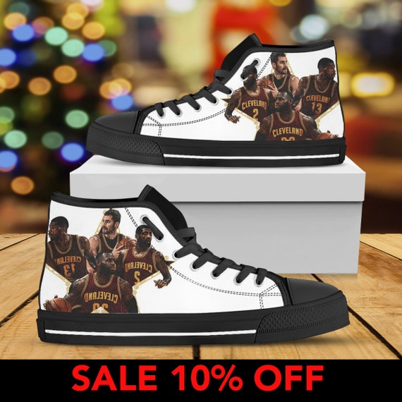 NBA King Cavaliers Cleveland cave Sneaker Cleveland Basketball Shoes Cavs LeBron Man James Cavaliers Team James Shoes Custom Converse xwwYpPqBa
