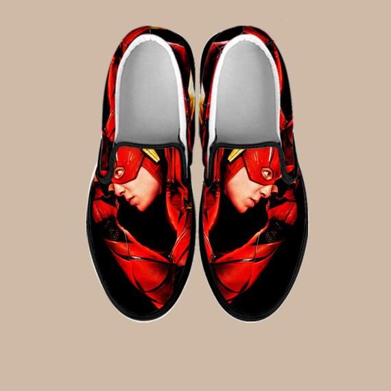 Custom Avengers Vans Superhero Flash on America The Slip Captain Slip Slip Flash Batman War on Infinity On Shoes Shoes Custom Marvel gqwg0Up