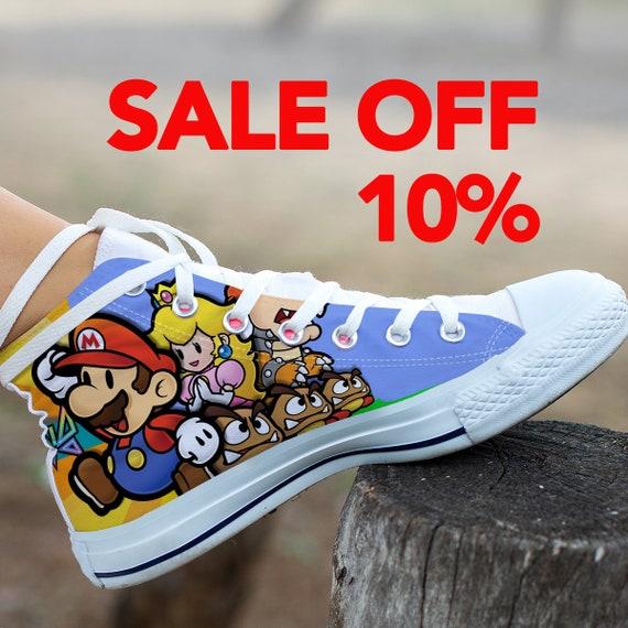 Custom Mario Super Super Luigi Super Shoes Bros Mario Mario Mario Custom Converse Birthday Party Shoes Custom Converse Sneaker Mario wg11ZqxIE