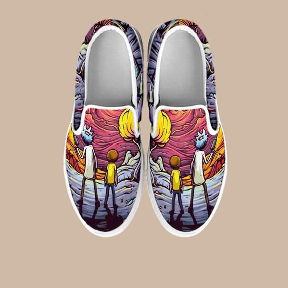Rick Shoes Slip Rick Slip Shoes Morty Sanchez Custom Shoe Morty Custom Rick On Adult Slip Rick And Morty Smith Swim Vans And Vans on on 4IqPp
