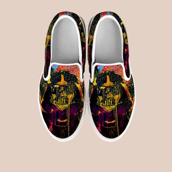59640686ba ... Star Shoes Wars Wars Vans Custom Art Stormtrooper Shoes Star Darth Shoes  Unisex On Wars Slip