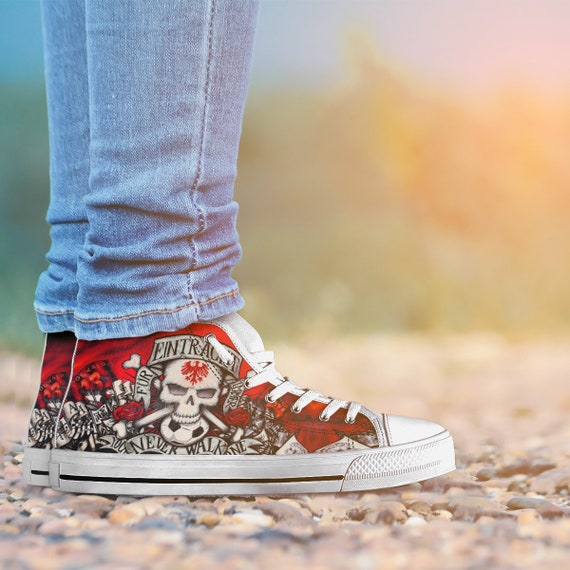 You Custom Shoes FC Converse Liverpool Sneaker High Liverpool Skull Converse Art Never Anfield Liverpool Custom Top Alone Shoes Walk rBwrqO7